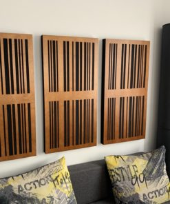 Slat diffuser acoustic panels