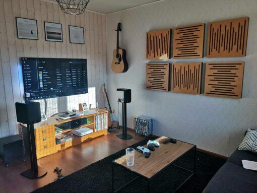 WaveFuser acoustic panels in home cinema