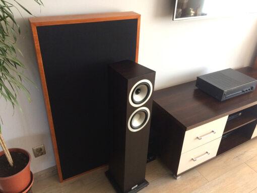 acoustic absorber behind speaker