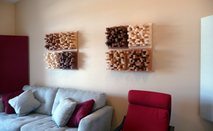 Skyline diffusers on the wall