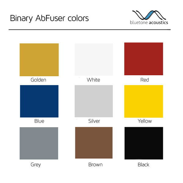 AbFuser acoustic panels color palette