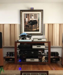 QRD acoustic diffuser in listening room in USA