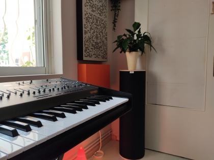 Corner bass trap in recording studio