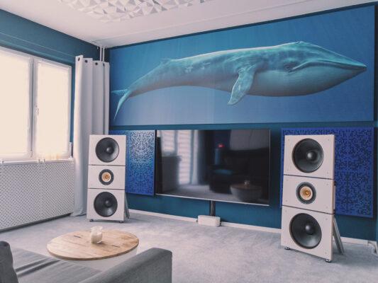 Binary Diffuser panels in listening room