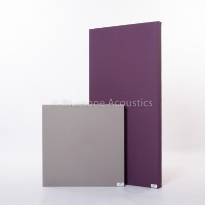 Bluetone Wall Pro sound absorbers silver and violet